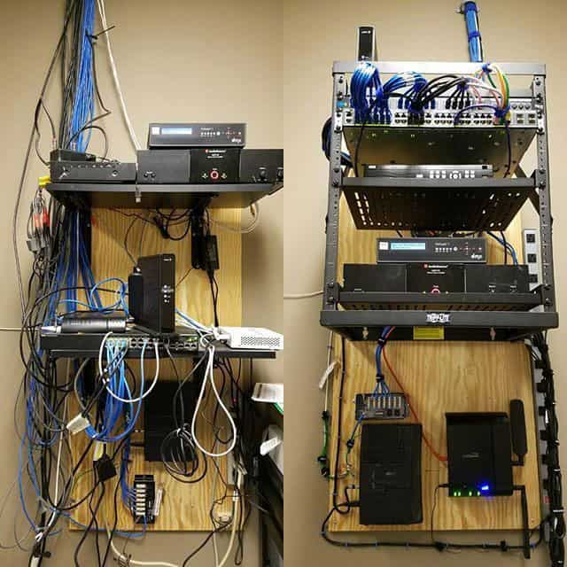 Before / After Data Racks, Structured Cabling