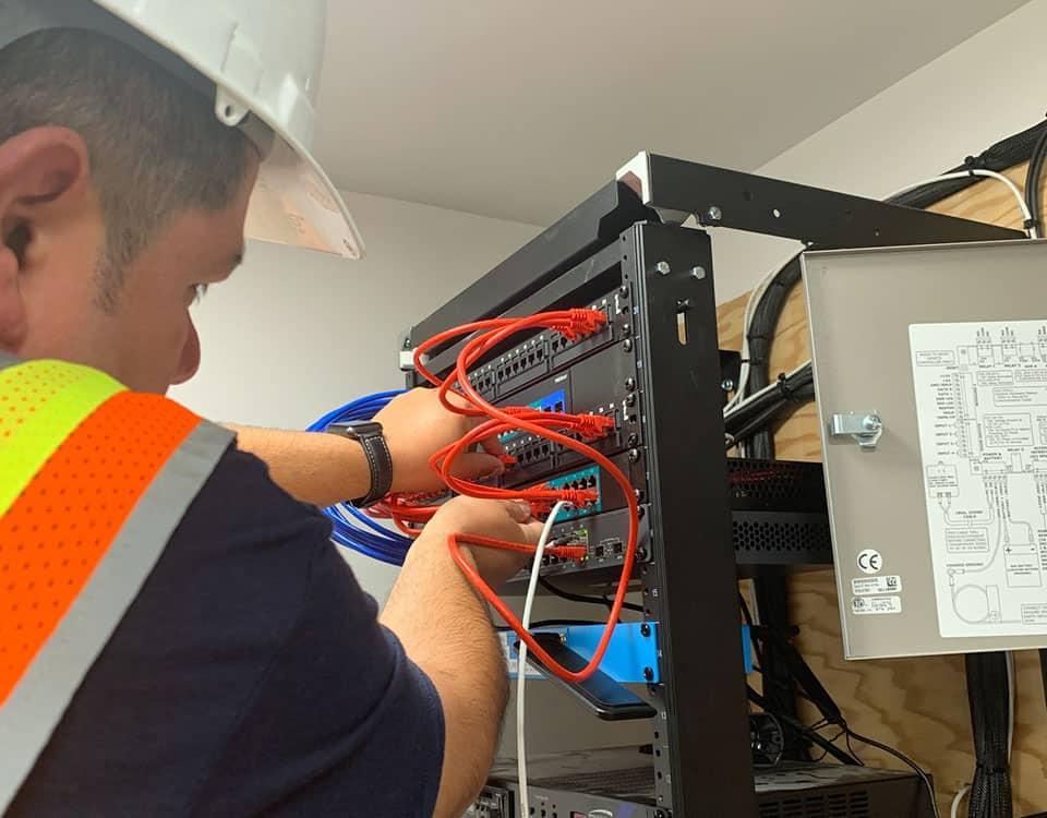 cat5e, cat6a, fiber-optics, structured cabling